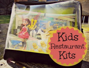 kids restaurant kit packed