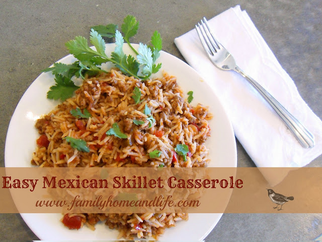 Easy Mexican Skillet Casserole a