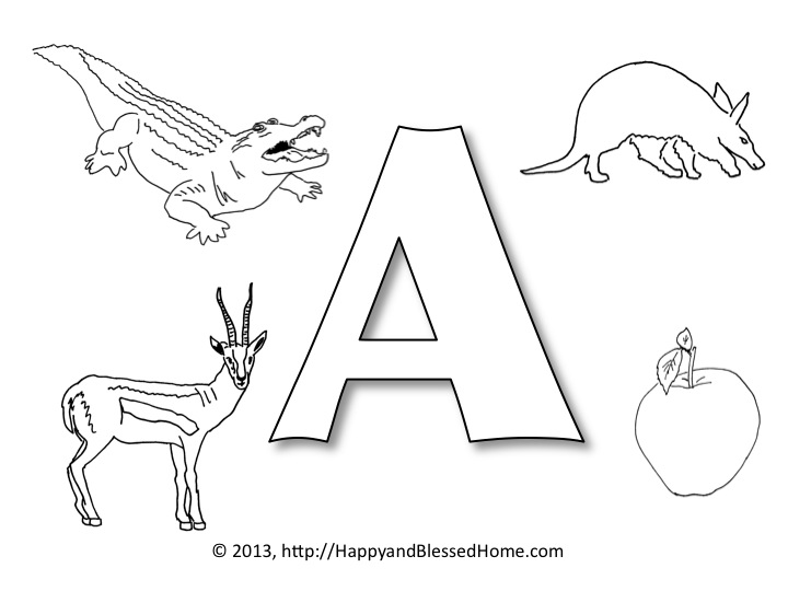 Worksheets Preschool Letter A preschool alphabet printables letter a happy and blessed home slide2
