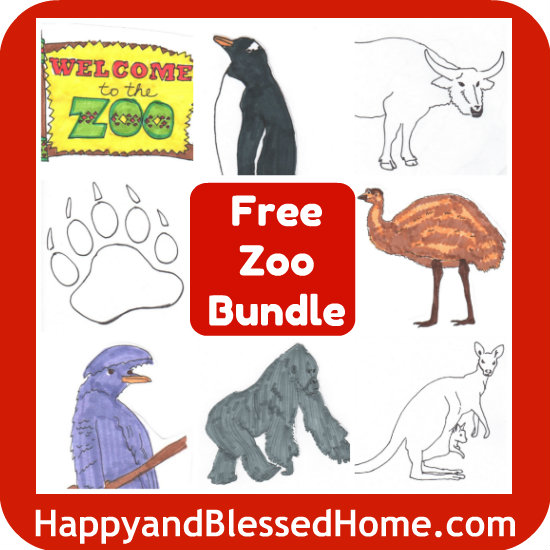 free printables zoo animals are here happy and blessed home. Black Bedroom Furniture Sets. Home Design Ideas