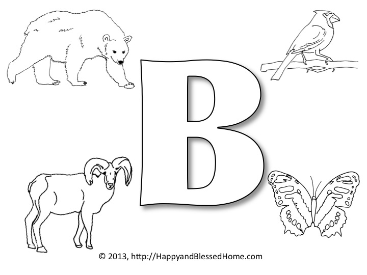 Pre School Alphabet Printables  B  Happy And Blessed Home