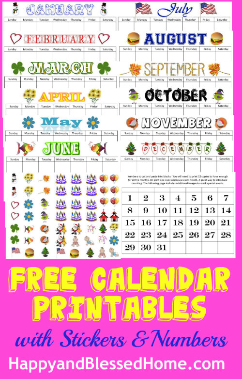 Free Calendar Printable | Perpetual Calendar Printables Happy And Blessed Home