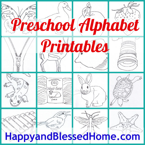 Free Preschool Alphabet Printables - Happy and Blessed Home