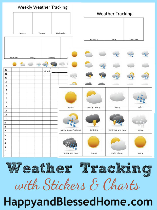 Preschool Activities Weather Tracking Happy And Blessed Home. Kindergarten. Weather Worksheets For Kindergarten At Mspartners.co