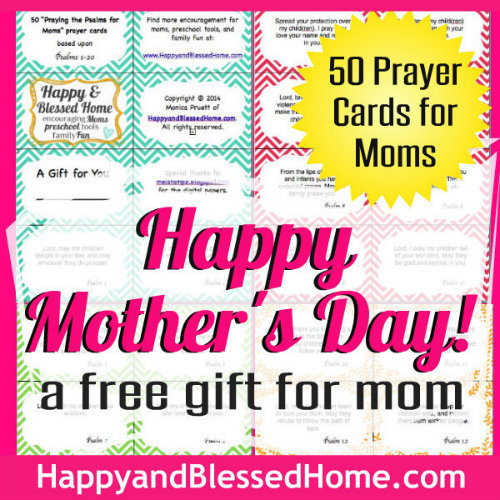 500 Square FREE Mothers Day Gift 50 Prayer Cards for Moms HappyandBlessedHome