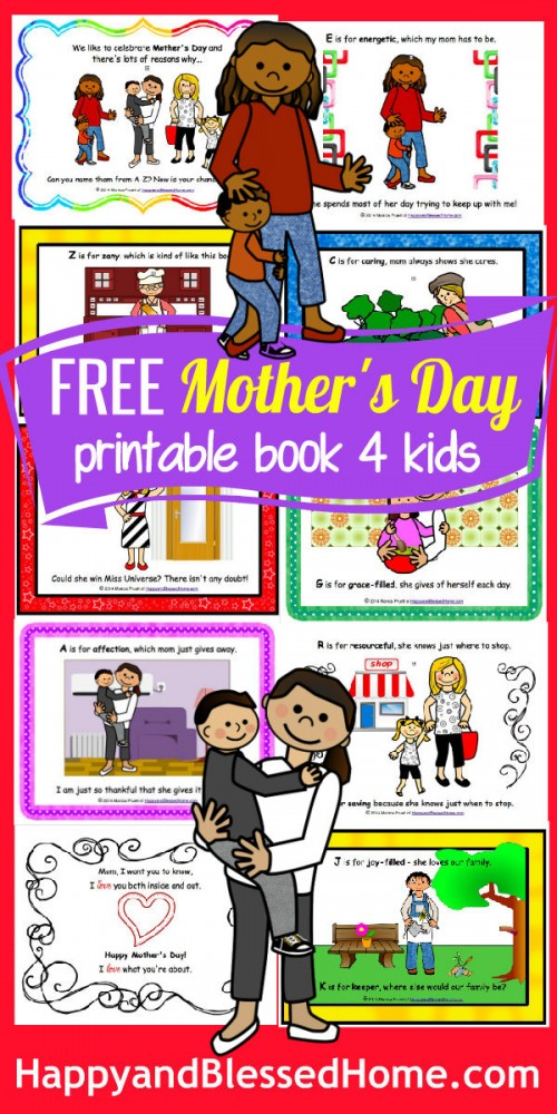 Moms FREE Mothers Day Book for Kids HappyandBlessedHome