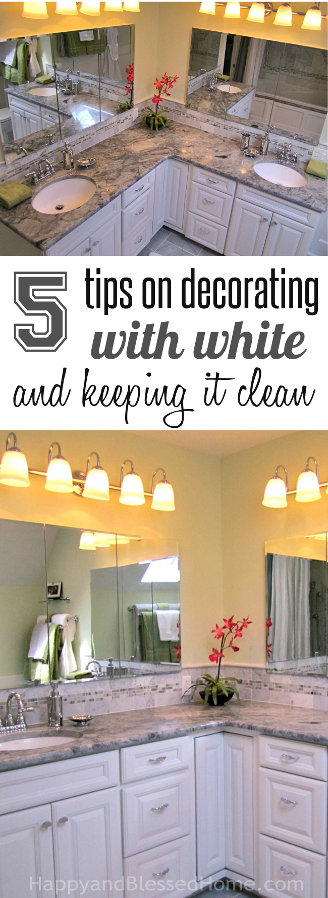 5 Tips for Decorating with White and Keeping it Clean